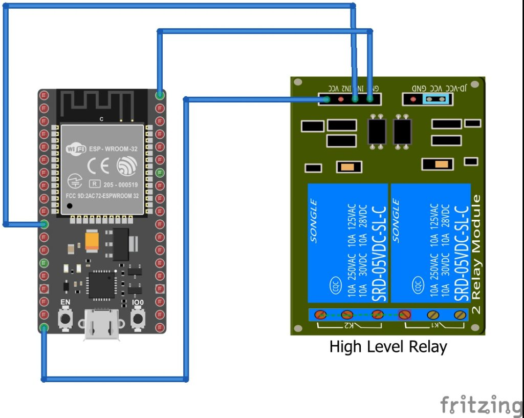 Fritzing diagram for the setup of the relay node