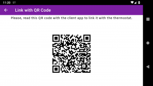 Qr Code to link the client app with the thermostat